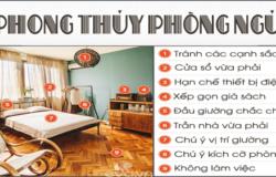 Thiết kế phòng ngủ và 09 điều nên tránh để hợp phong thủy