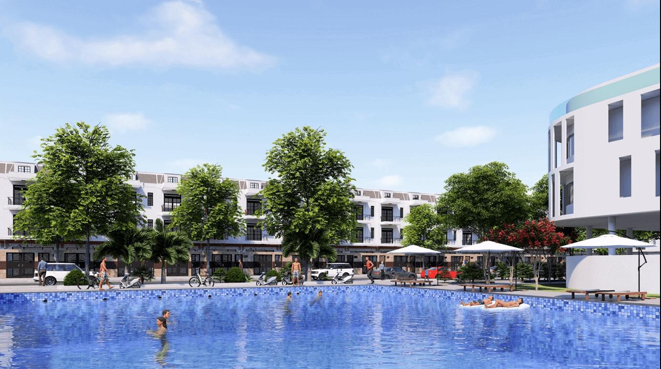 bể bơi dự án new center nghĩa hành
