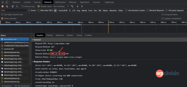 kiểm tra ip trình duyệt website