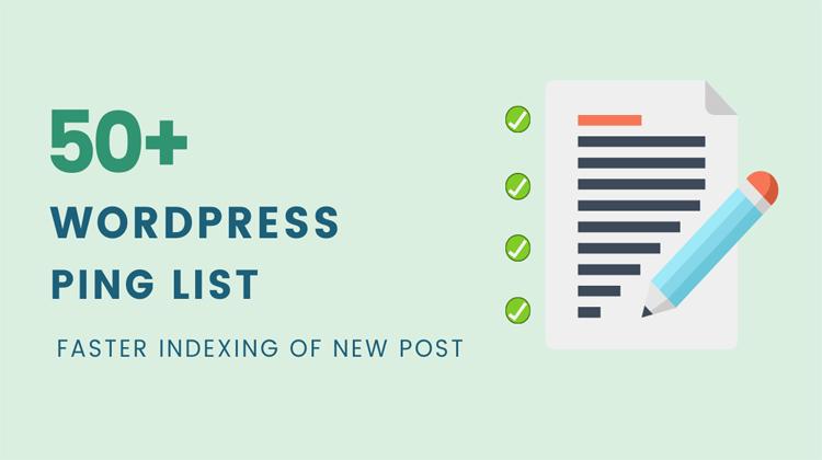 ping list mới nhất dành cho website wordpress